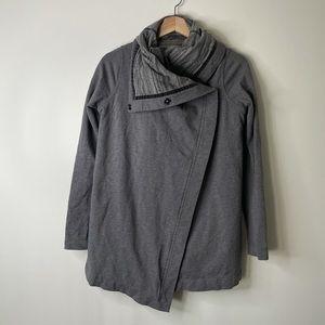 Lululemon Savasana Wrap Sweater Gray Stripe 4